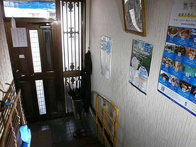ゲストハウス涼風玄関(内側)